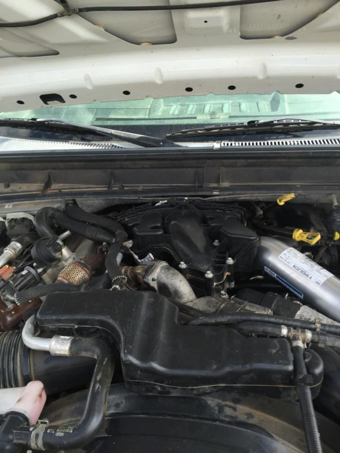 under the hood of a car